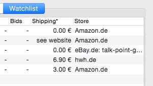 Cropped screenshot showing watchlist